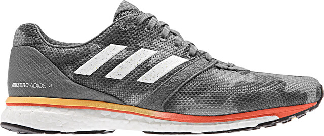 adidas Adizero Adios 4 Schoenen Heren, grey fourfootwear whitesolar orange